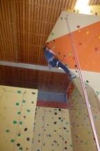Bernd am mittelschweren Überhang